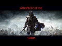 Middle-earth Shadow of Mordor played on Argento X100